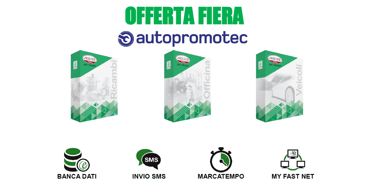 Offerta Autopromotec 2019: approfittane subito!