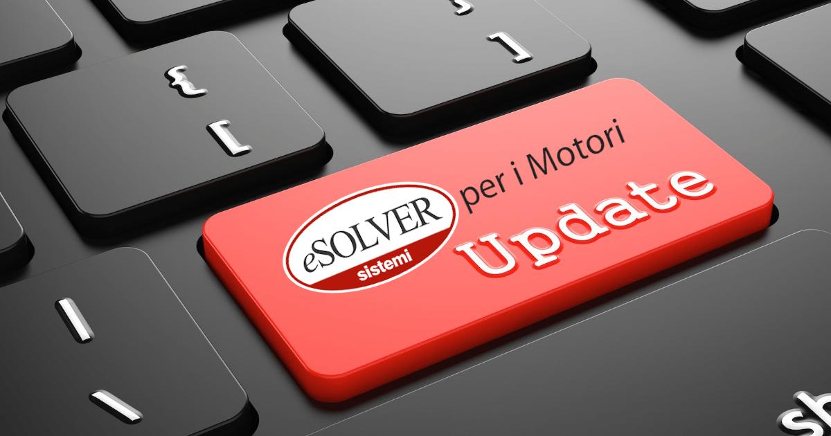 Tutto sull'aggiornamento straordinario di eSOLVER per i Motori 2020