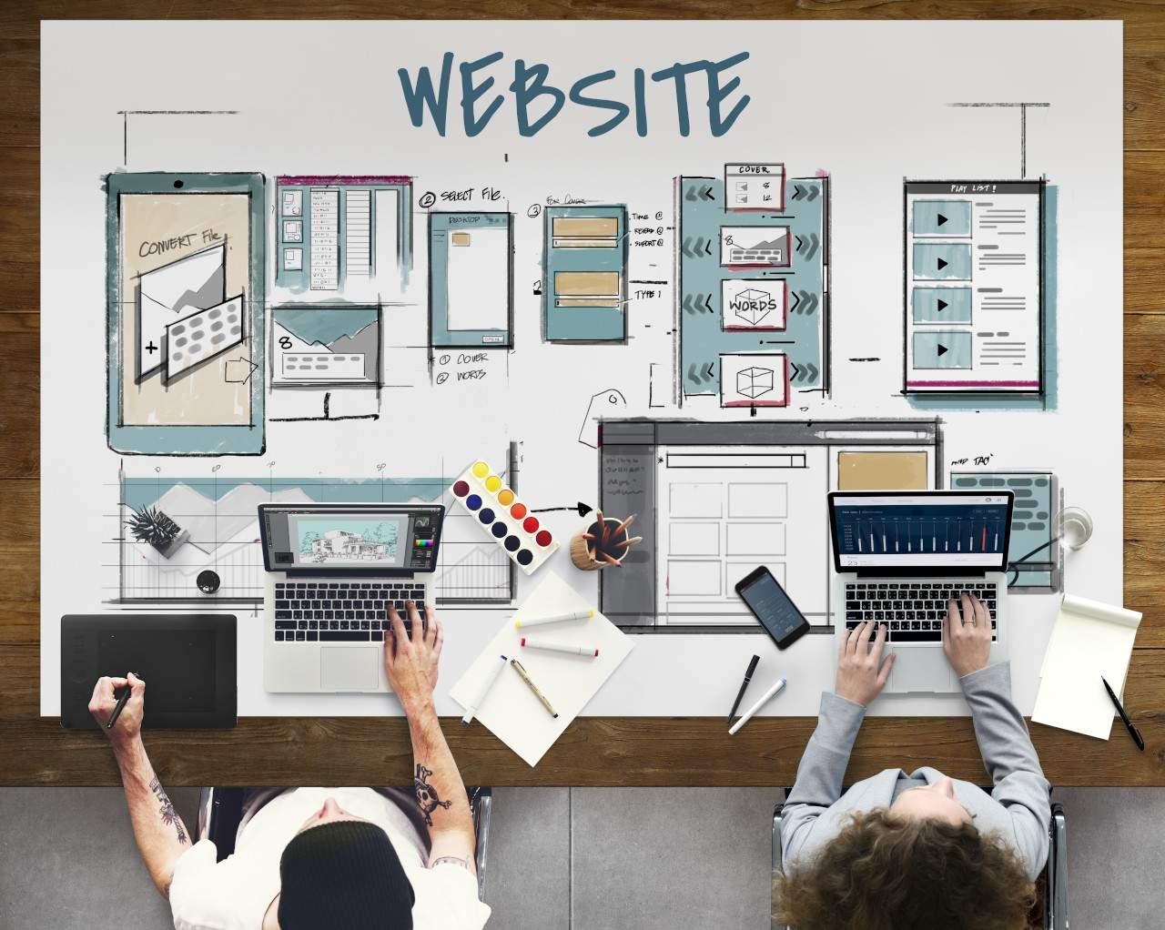 Web,template,layout,draft,sketch
